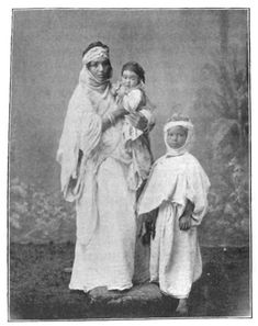 Africa: Old photo of Kabyle berbers, Algeria