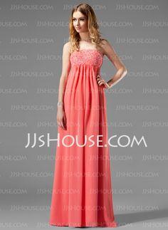 766e34c29a947 Maternity Bridesmaid Dresses - $116.99 - Empire Strapless Floor-Length  Chiffon Maternity Bridesmaid Dresses With