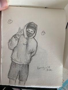 Art Drawings Sketches Simple, Pencil Art Drawings, Easy Drawings, Styles Harry, Harry Styles Drawing, One Direction Drawings, One Direction Art, Foto One, Celebrity Drawings