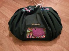 Small Toy storage bag playmat swoop sack lego beads by MarkwellCreations. $39.99. Made to order. Order yours by visiting the link.