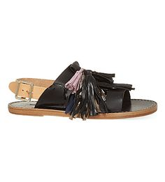 ISABEL MARANT Clay tassel sandals (Black