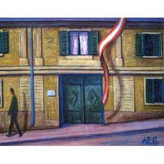 Werner Berg Haus mit Fahne 1961