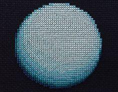 Uranus Planet Cross Stitch Pattern PDF Instant от StemStitch
