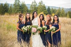 Stunning Navy Bridesmaid Dresses  Sean & Lacy's Wedding Photos by RP Imagery www.rpimagery.com