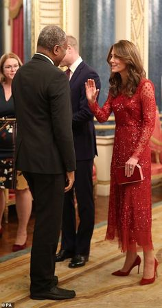The Royal Family is on the cusp of a new era as Prince William arrives with wife Kate Middleton, to host his first solo reception tonight at Buckingham Palace Duchess Kate, Duke And Duchess, Duchess Of Cambridge, Princess Kate, Princess Charlotte, William Kate, Prince William, Kate Middleton Style, Beautiful Celebrities
