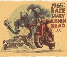 """House Of The Forgotten Machines"": The Superb Soviet Dieselpunk Concept Art By Andrey Tkachenko – Design You TrustDesign You Trust Course Automobile, Propaganda Art, Steampunk, Motorcycle Art, Monster Motorcycle, Dieselpunk, Courses, Designs To Draw, Concept Cars"