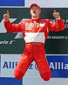 ELANCE Victorieux de 91 GP en formule 1, Michael Schumacher a pu exercer à la perfection son saut de joie sur le podium. Une pensée pour lui...