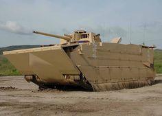 US Marine Corps EFV ashore.