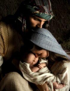The Holy Family ~ Nativity of Jesus Christmas Nativity, Christmas Love, Winter Christmas, All Things Christmas, Merry Christmas, Christmas Jesus, Christmas Decor, Luke 2, Holy Family