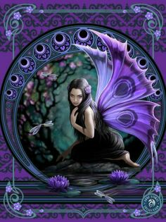 The fantasy art of Anne Stokes features striking designs and life like portrayals of fantasy subjects. Foto Fantasy, 3d Fantasy, Fantasy Artwork, Magical Creatures, Fantasy Creatures, Woodland Creatures, Illustration Fantasy, Elfen Fantasy, Fairy Pictures