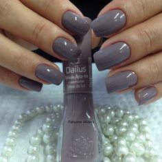 60 Ideas For Nails Colors 2018 Manicure Colors, Manicure And Pedicure, Nail Colors, Gray Nails, Super Nails, Gorgeous Nails, Trendy Nails, Toe Nails, Nails Inspiration