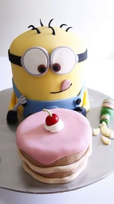 Despicable Me 2 minions celebrating Xavier's 6th birthday with ice cream and cake! Description from pinterest.com. I searched for this on bing.com/images