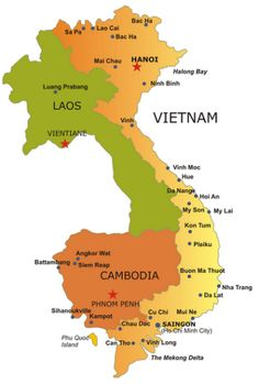 Useful Travel maps Tours info, for planning your trip to ~ Vietnam, Cambodia, Lao, and Thailand
