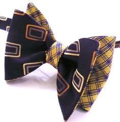 PocketSquareZ - Custom Reversible, DOUBLE-SIDED Bow Tie 06, $39.00 (http://www.pocketsquarez.com/custom-reversible-double-sided-bow-tie-06/)