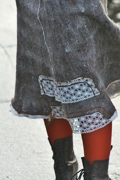 Eco and boho fashion felted tweed skirt from natural от LunataFelt