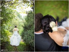 Beautifull lace gown and white flower. Love this eco wedding! Beautiful fall wedding in Tennessee - click to view more from this wedding at Ijams Nature Center in Knoxville TN.