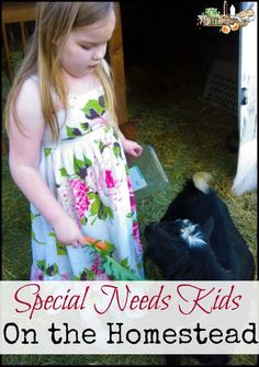 Your homestead is a special place for raising happy, healthy special needs kids - from chores to homeschool to family time, you can put the home in homestead for your family.
