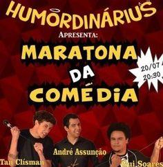 """Pessoal é hoje, às 20h30 que acontece a Maratona da Comédia, no Teatro Adamastor Pimentas em Guarulhos. Será uma noite muito divertida com os malucos da comédia, os meninos HumOrdinárius, Tan Clísman, André Assunção e Gui Soares. E ainda participação das feras, Paulo Zamparo, Thiago Zap Luiz Octágio Rogens e Willian Berna. Então aproveite a...<br /><a class=""""more-link""""…"""