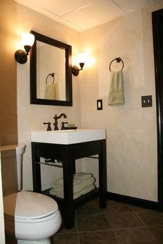 Love how basement bathrooms no longer need to sacrifice style, function, or appeal.