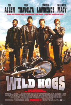 Wild Hog Wednesday: Wild Hogs The Wild Hogs film that started it all. Tim Allen, John Travolta, Martin Lawrence, and William H. Macy are four Harley-riding suburbanites looking for. Funny Movies, Comedy Movies, Old Movies, Great Movies, Funniest Movies, Movies Free, Funny Comedy, Hindi Movies, John Travolta