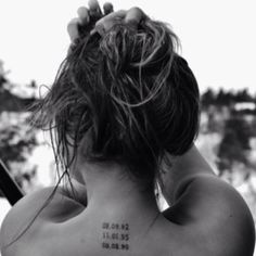 Special dates tattoo. Getting this on my side w my husbands date of birth, my date of birth, 'first date' date, wedding date, the day my son was born and lastly...the day our beautiful daughter was born ;)