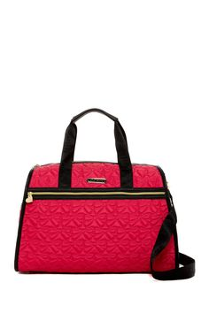 Signature Quilt Weekend Bag by Betsey Johnson on @HauteLook | My ... : quilted weekend bag - Adamdwight.com