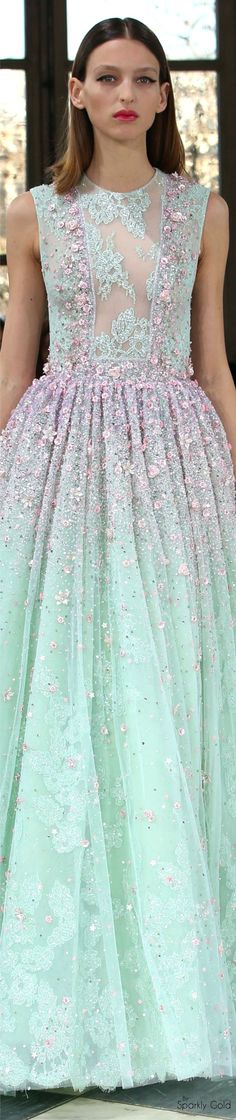 ℳiss Giana's Gorgeous Gowns ♛ ♛ Poppy Pea Georges Hobeika Spring 2016 Couture Couture Fashion, Runway Fashion, High Fashion, Fashion Show, Fashion Design, Beautiful Gowns, Beautiful Outfits, Evening Dresses, Prom Dresses