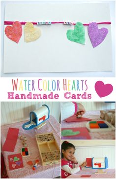 Water Color Hearts for Cards: Perfect for spreading a little everyday love. *So sweet.