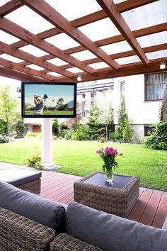Untitled Diy Pergola, Pergola With Roof, Covered Pergola, Pergola Shade, Backyard Shade, Outdoor Covered Patios, Covered Outdoor Kitchens, Covered Patio Design, Small Outdoor Patios