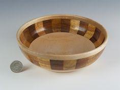 Wooden bowl, Wood turning, Decorative  bowl, Multi color, Handmade wood bowl, Segmented bowl, Knick knack bowl, Decorative bowl,Candy bowl by TimsWoodturnings on Etsy
