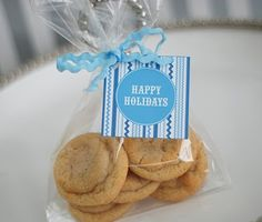 Free Printable: Blue and White Holiday Cookie Exchange Recipe Cards & Logos! : Anders Ruff Custom Designs :