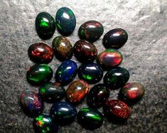 Items similar to 3 match pair 6 pieces Black Opal Cabochon Oval Gemstone, BLACK OPAL Oval Cabochon Loose Gemstone, Black Opal Cabochon Oval Gemstone on Etsy Opal Gemstone, Rainbow Moonstone, Wholesale Gemstones, Black Opal, Natural Red, Red Garnet, Pendant Set, Natural Crystals, Crystals