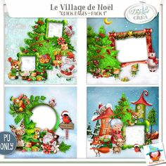 Le village de Noel QP pack 1 Egalement disponible chez Digiscrapbooking http://www.digiscrapbooking.ch/shop/index.php?main_page=index&manufacturers_id=129