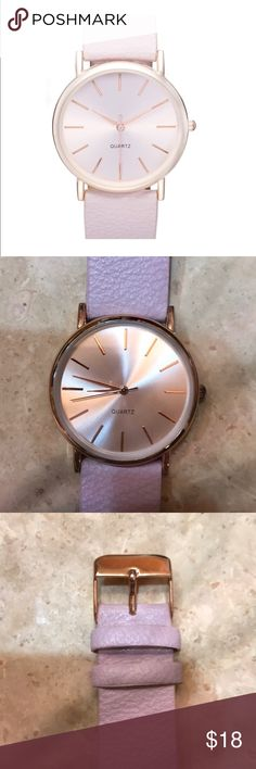 Round Face Faux Leather Strap Watch, 35mm Rose Gold new watch Nordstrom Accessories Watches