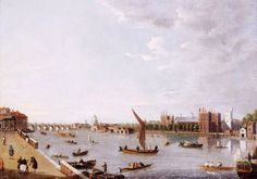 Millbank looking east to Westminster with St Paul's in the distance. Lambeth Palace is opposite. London Map, London Museums, London History, Free Museums, Barbican, River Thames, Great Stories, Westminster, Oil On Canvas