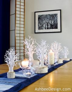 Ashbee Design Silhouette Projects: Ledge Village • Winter Tree