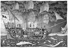 The Wheelhouse, King Salmon, Below Deck, Boat Art, Sea Monsters, Tall Ships, Catamaran, Sailboat, Pirates