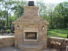 You can use your outdoor room year round with an outdoor fireplace.