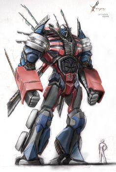 Optimus Prime.  Finished. by vijil.deviantart.com on @DeviantArt