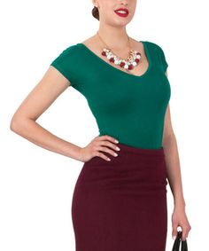 This Dark Green Rainbow Top - Women & Plus by Tatyana is perfect! #zulilyfinds