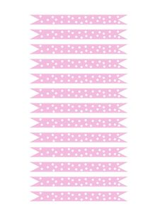 printable pink and white polka dot straw flags by ilovepaperdotca