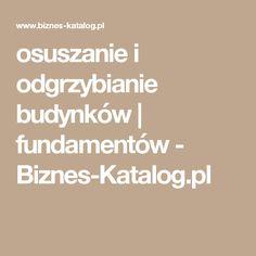 osuszanie i odgrzybianie budynków | fundamentów - Biznes-Katalog.pl