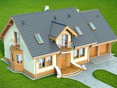 Wizualizacja DN Karmelita 2M CE Design Case, Malm, Home Fashion, Contemporary Design, Tiny House, Teak, House Plans, Shed, Farmhouse