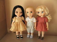 Animators collection dolls Mulan,Rapunzel and Cinderella