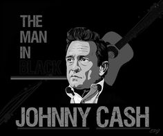 """Johnny Cash Man in Black - I love how all his songs tell a story. """"The Man in Black,"""" whether you like folk music or not, it's worth listening to just for the lyrics Johnny And June, Johnny Cash, Country Singers, Country Music, Jazz Blues, Folk Music, Black Wallpaper, Music Songs, Vintage Posters"""