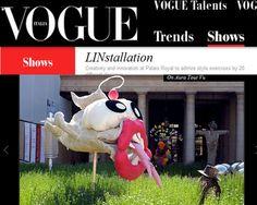 Vogue Italia 2010 linstallation with on aura tout vu monster at Palais Royal