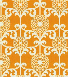 Waverly Modern Essentials Fabric-Fun Floret / Citrus Orange