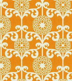 Waverly Modern Essentials Fabric-Fun Floret / Citrus Orange