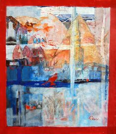 Katharine Bruce - Red Robin  Sold Robin, Canada, Artists, Fine Art, Abstract, Artwork, Red, Painting, Beautiful