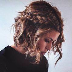 Fryzury dla krótkich włosów: sploty / fot. Instagram @hairstyle